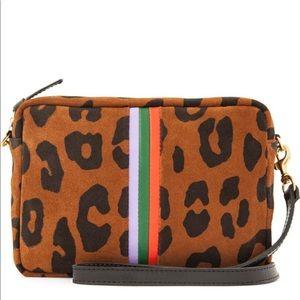 NWT Clare V. Suede Midi Crossbody Bag